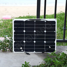 40w Solar Panel Flexible Cell Module MC4 Connector 12V Battery Charger Boat RV