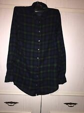 Ladies New Look Checkered Blue And Green Blouse Size 6