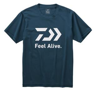 Daiwa Feel Alive River Blue Fishing T Shirt Short Sleeve Sun Protection 50+ UPF