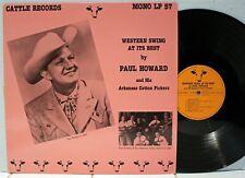 Rare Western Swing LP - Paul Howard - Western Swing At It's Best- Cattle- Import