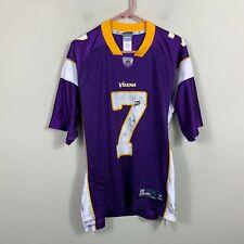 1b7c04458b1e Reebok NFL Jersey Size L Minnesota Vikings Christian Ponder  7 White Purple