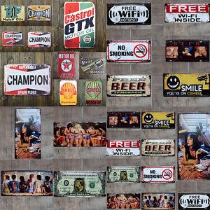 Vintage Tin Metal Sign Poster Plaque Bar Pub Club Wall Vintage Home Decor Retro