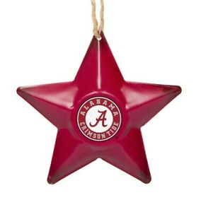 Alabama Crimson Tide Christmas Tree Holiday Ornament New Team Logo Metal 3D Star