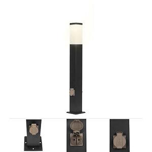 Grafner® Wegleuchte Außenlampe Standleuchte Steckdosen Garten Wegeleuchte Außen