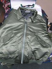 Sportsmaster green Bomber style Jacket collar men's size 2XL nylon VGC USA made
