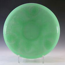Jobling Art Deco Uranium Jade Green Glass Fircone Bowl