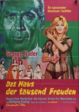 HOUSE OF 1000 DOLLS German A1 movie poster VINCENT PRICE MARIA ROHM LOM 1967 NM