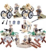 68 Pc Army Weapons & Minifigures Set Guns & Artillery Soldiers Legos Comp Weapon
