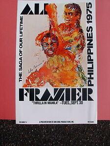 1975 Original THRILLA IN MANILA BOXING POSTER! Joe Frazier! MUHAMMAD ALI!