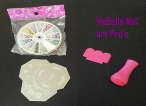 MeBella Stamp Nail art pro' kit. manicure craft art +FREE gift 1000 Rhinestones