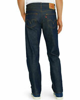 LEVIS 501 SHRINK TO FIT BUTTON FLY JEANS STRAIGHT LEG COLOR RIGID BLUE 0000