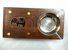 Wooden Handcrafted Ashtray Ash Tray With Cigarette Box Gift Item