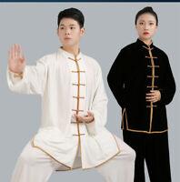 Chinese Velvet Kung Fu Taichi Uniform Martial Art Clothes Set Wing Chun Unisex