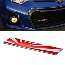 1Pc Aluminum Plate Japanese Flag Plate Badge For Front Grille Side Fender Trunk