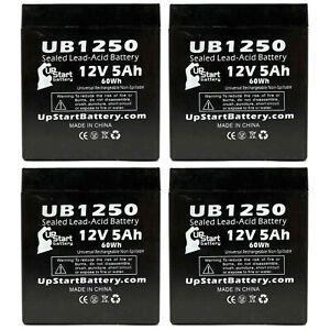 4-pack Ademco 4110XM Battery UB1250 12V 5Ah Sealed Lead Acid SLA AGM