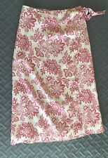 Tommy Hilfiger Women's Wrap Skirt Size 10 Floral Print Long Linen Skirt
