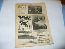 RIVISTA LA SETTIMANA DI CACCIA E PESCA N. 33 1937