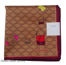 CELINE Licensed monogram Handkerchief / Mini-Neckscarf Brown Handbag-print Japan
