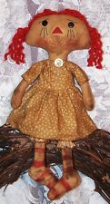 PATTERN PRIMITIVE RAGGEDY DOLL PRIM ANNIE DOLL MAILED PATTERN ~ QUICK AND EASY!!