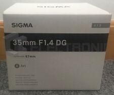 Nuovo Sigma 35mm F1.4 DG HSM Art Lens For Nikon