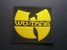 PUNK ROCK HEAVY METAL MUSIC SEW / IRON ON PATCH:- WU-TANG (a) HIP HOP CLAN