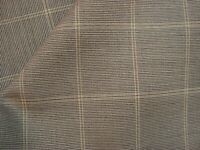 "4+ yds Luxury WOOL Suiting Super fine 110s FABRIC 10 oz Taupe Plaid 150"" BTP"