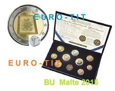 BU  COFFRET  MALTE   2015    RARE  /   SEULEMENT  30 000   EX,      DISPONIBLE