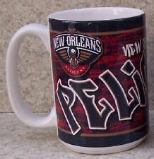 Coffee Mug Sports NBA New Orleans Pelicans Grafitti NEW 15 ounce cup w/ gift box