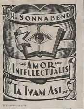 "Henry  Sonnabend    woodcut   ""Ta Tvam Asi""    Eye    South Africa      QT1598"