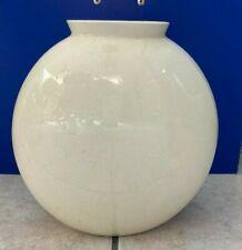 ceramica Lavenia vaso anni 40 ovale color avorio alto 20 cm x 21 di larghezza