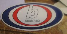 BLINK 182 STICKER 90'S METAL  SUPER LARGE COLLECTIBLE RARE VINTAGE