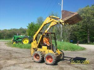 Case 1737 Skid Loader Skidsteer Bobcat NO RESERVE tractor wheel farmall deere b