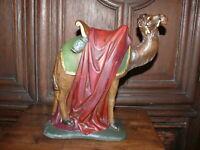 Rarität ca.100 Jahre altes Kamel Krippenfigur zu 30er Figuren gemarkt handbemalt