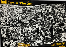 More details for sex pistols 'holidays in the sun' single window poster virgin vs191 - reprint