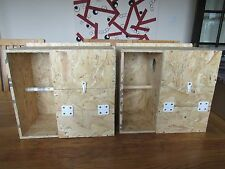 "2 X COCKATIEL NEST BOXES WITH PORCH/CRECHE FOR BREEDING 8""X8""X13"" / 13.5""X13""X8"""