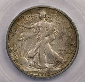 1917-S 1917 Walking Liberty Half Dollar 50c ICG AU50 Details
