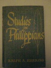 1952 Studies In Philippians Ralph A. Herring
