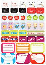 140 Adesivi Ricompensa Per Bambini Grafico Bambini Insegnante Scuola Star ben fatto