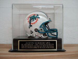 Justin Herbert Football Mini Helmet Display Case W/ A Chargers Nameplate