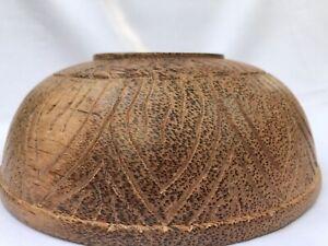 Wooden Bowl Salad Serving Vintage Bowls Wood  Large Hand Made coconut medicine