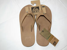 Reef Mens Crew SL Logo Sandal Flip Flop Bronze/Brown lt brown 12 NWT beach NEW