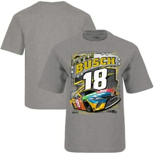 Kyle Busch #18 Nascar 2020 Gray Surge One Sided Youth Tee Size Small