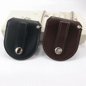 Mens Leather Pocket Watch Holder Bronze Chain Holster New BA Storage Case Pouch