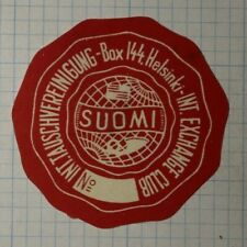 Finland Exchange Club Suomi Ww Clubs & Societies Poster Stamp
