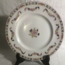 """6 MINTON China ROSE # A4807 FLORAL PANEL BORDER & SWAG Dinner Plates 10 3/4"""""""