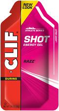 CLIF SHOT - Energy Gel - Razz - No Caffeine 1.2 Ounce Packet, 24 Count