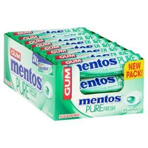 Fresh Spearmint MENTOS Mint Chewing Gum Bulk 24 Rolls