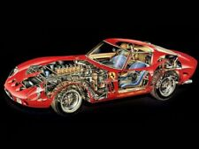 A3 Ferrari 250 GTO CutAway Rally Wall Poster Art Picture Print
