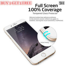 UK For iPhone 7 Full Screen 3D Curved Tempered Glass Screen Protector White CC