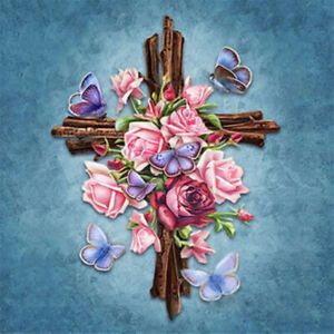 Full Drill 5D Diamond Painting Colored Flowers Cross Stitch Kit Embroidery Gift